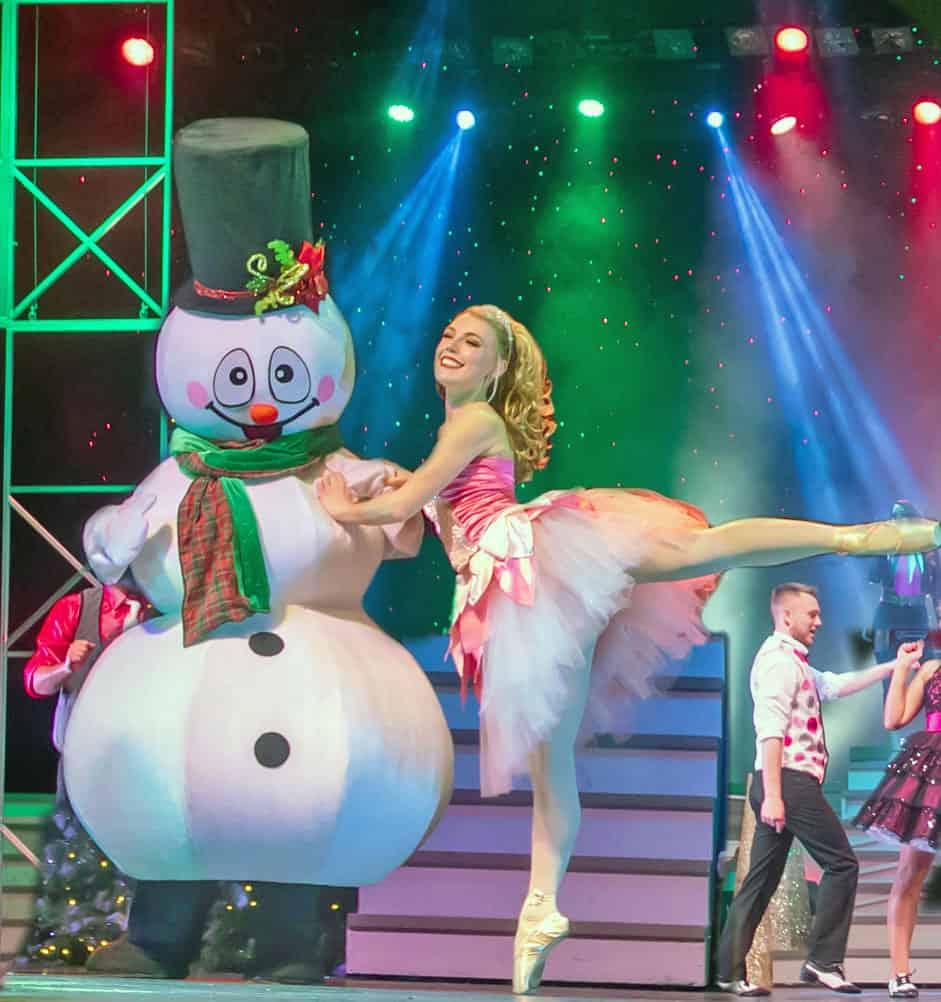 ballerina and snowman